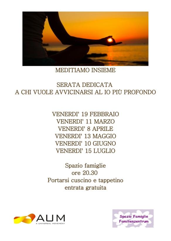 locandina meditazione